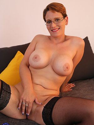 Cougar with Glasses Fucked