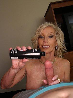 Blonde Cougar Handjob