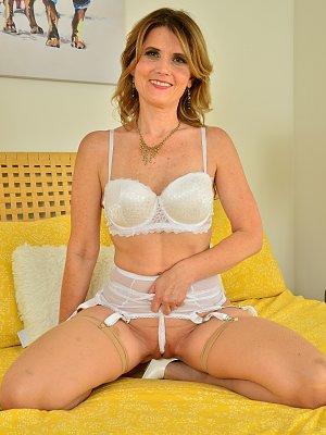 Alby Daor in white stockings